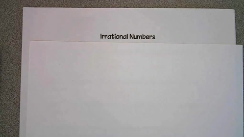 Thumbnail for entry Irrational Numbers
