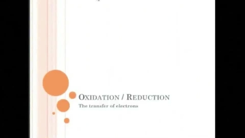 Thumbnail for entry Oxidation - Reduction Review
