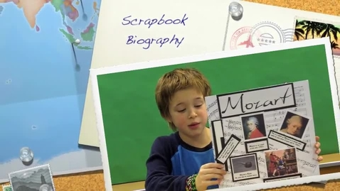 Thumbnail for entry Landen's Scrapbook Biography Book Report