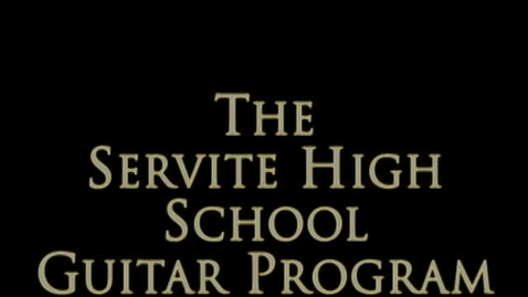 Thumbnail for entry Servite Guitar Trio Plays Bach