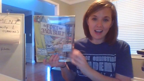 Thumbnail for entry Mrs. McAfee reads The Fort that Jack Built