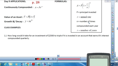 Thumbnail for entry Exponential and Log Word Problems