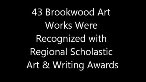Thumbnail for entry BHS Student Art Recognized With Regional Scholastic Art & Writing Awards