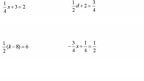 Thumbnail for entry Solving Multi-Step Equations