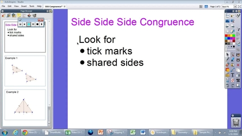 Thumbnail for entry G.6 SSS Triangle Congruence Module 1
