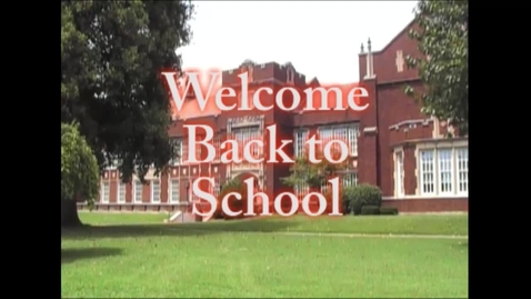 Thumbnail for entry Welcome Back to School