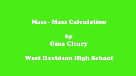 Thumbnail for entry Mass Mass Calculation
