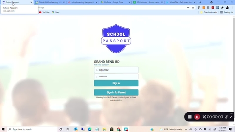 Thumbnail for entry SchoolTube SSO Login with GG4L School Passport