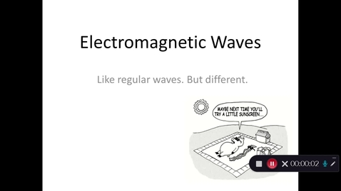 Thumbnail for entry Electromagnetic Waves Introduction