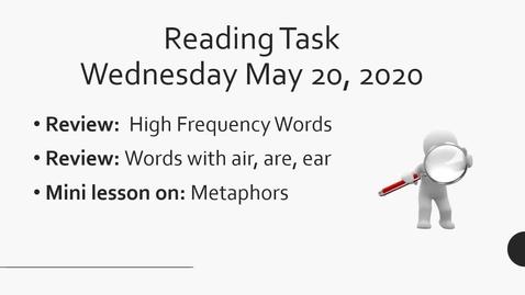 Thumbnail for entry Reading Task May 20 2020