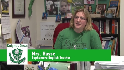 Thumbnail for entry Mrs. Hasse talks about sophomore interviews
