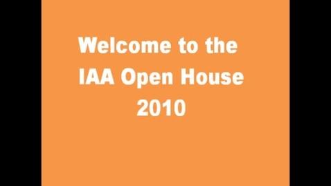Thumbnail for entry IAA Open House 2010