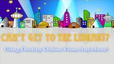 Thumbnail for entry Using Destiny to select a book