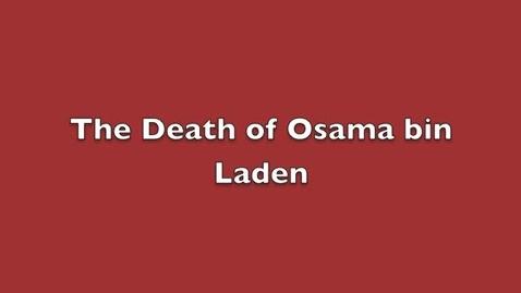 Thumbnail for entry Osama bin Laden reaction