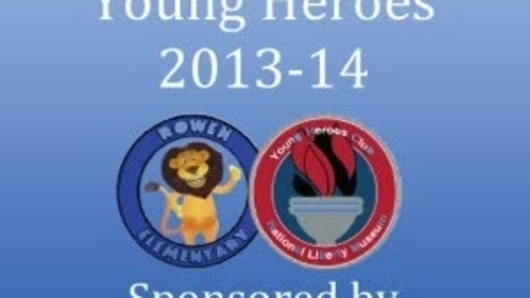 Thumbnail for entry Rowen Young Heroes on Street Safety
