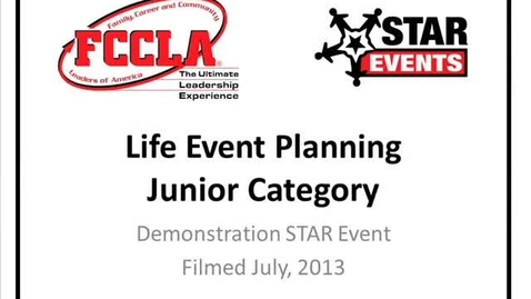Thumbnail for entry FCCLA STAR Events Demonstration Life Event Planning (Saraland Middle)