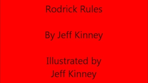 Thumbnail for entry Rodrick Rules by Jeff Kinney