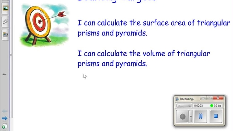 Thumbnail for entry Volume and Surface Area of Triangular Prisms and Pyramids