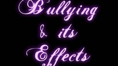 Thumbnail for entry Bullying video