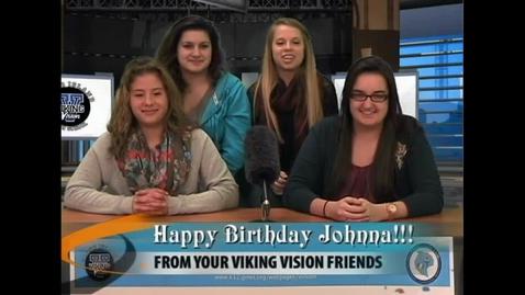 Thumbnail for entry Viking Vision News Tues 1-8-2013