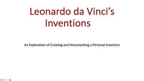Thumbnail for entry Art Project Leonardo da Viinci's Inventions Part 1