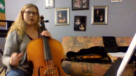 Thumbnail for entry 6th Grade Cello String Basics Book 1 Pages 28-29.mp4
