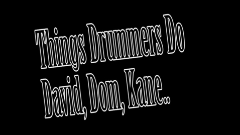 Thumbnail for entry Things Drummers Do - WSCN 2014/2015