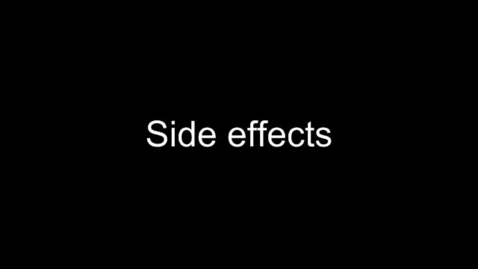 Thumbnail for entry Side Effects