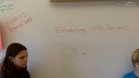 Thumbnail for entry Estimating with decimals