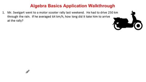 Thumbnail for entry 1.1 Application Walkthrough - Algebra Basics