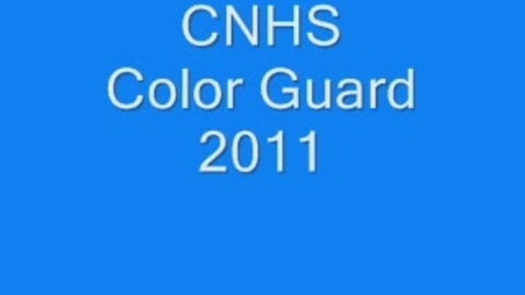 Thumbnail for entry CNHS Color Guard