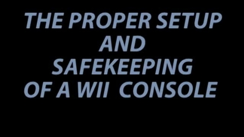 Thumbnail for entry Wii Safety