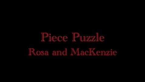 Thumbnail for entry MacKenzie and Rosa on Piece Puzzle