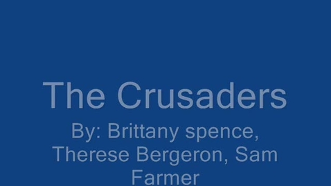 Thumbnail for entry The Crusaders