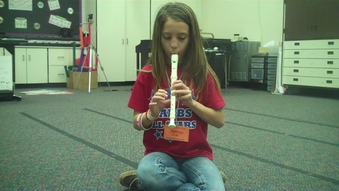"""Thumbnail for entry 5B White 7 recorder solo """"High Five"""" 2012"""