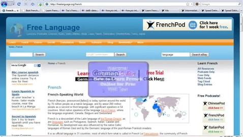 Thumbnail for entry Learn French Online For Free