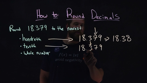 Thumbnail for entry How to Round Decimals| Round 18.739 | Minute Math