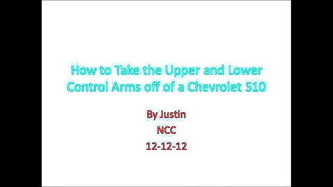 Thumbnail for entry Remove the upper and lower controls arms on a S10