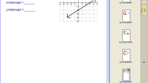 Thumbnail for entry Graphing a Linear Equation using Intercepts #5