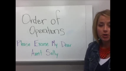 Thumbnail for entry 1-1 Order of Operations