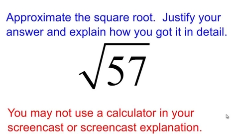 Thumbnail for entry Find the approximation of a square root
