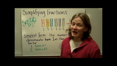 Thumbnail for entry Simplifying Fractions