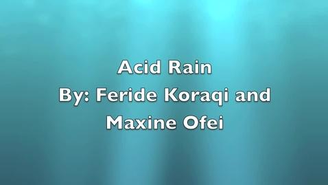 Thumbnail for entry acid rain