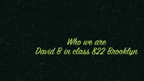 Thumbnail for entry Who We Are-David