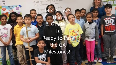 Thumbnail for entry Ms. Shaw's Milestones Video