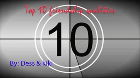 Thumbnail for entry Destiny and Kiki Top 10 Human Qualities - Beg. Broadcast 2018