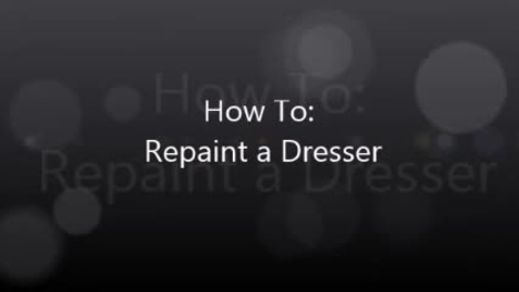 Thumbnail for entry Faith demonstrates how to repaint a dresser