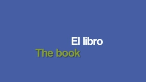 Thumbnail for entry Word of the Week- el libro