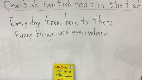 Thumbnail for entry Story Writing Words for 'One fish two fish...'