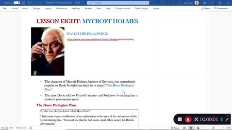 Thumbnail for entry Sherlock Holmes Lesson 8